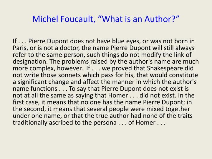 Michel Foucault,
