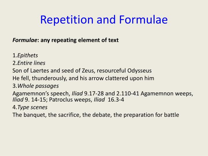 Repetition and Formulae
