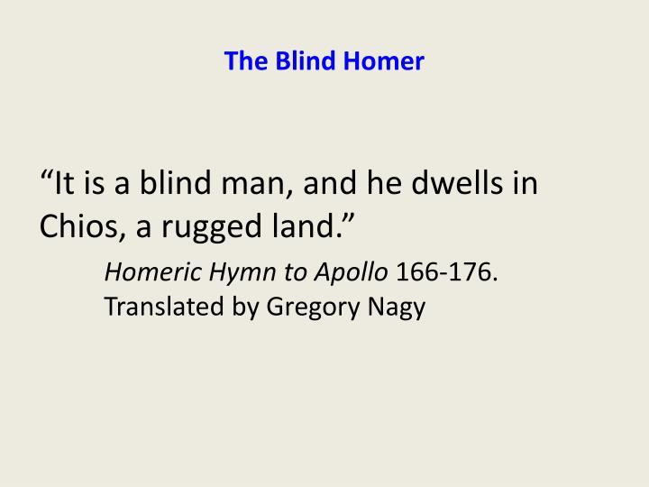 The Blind Homer