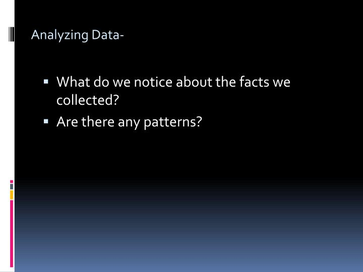 Analyzing Data-