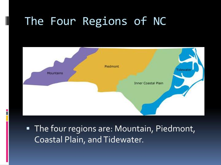 The Four Regions of NC