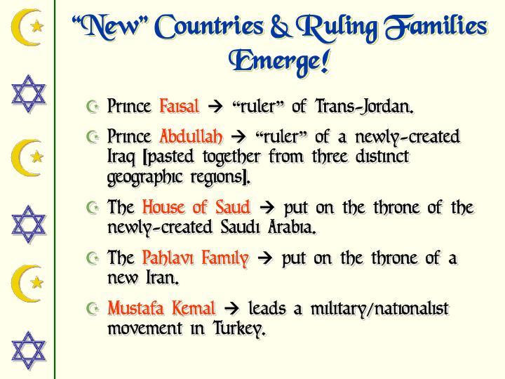 """""""New"""" Countries & Ruling Families Emerge!"""