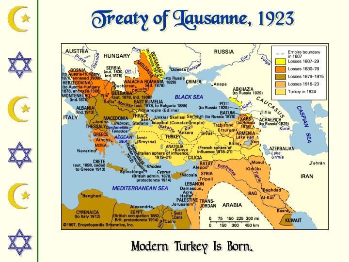 Treaty of Lausanne, 1923