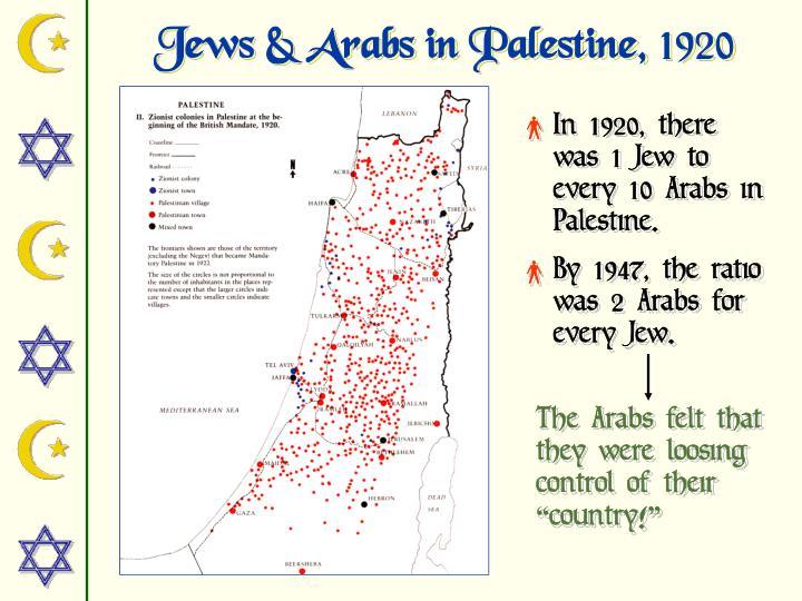 Jews & Arabs in Palestine,