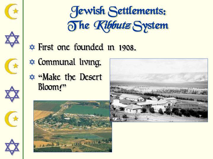Jewish Settlements: