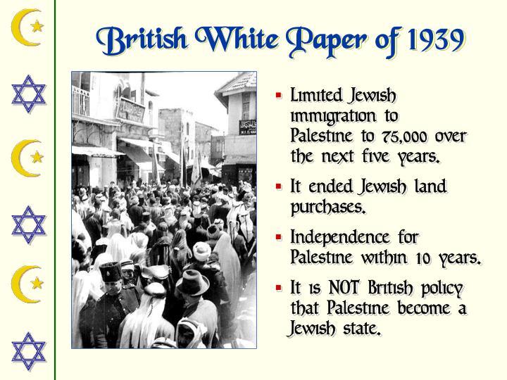 British White Paper of 1939