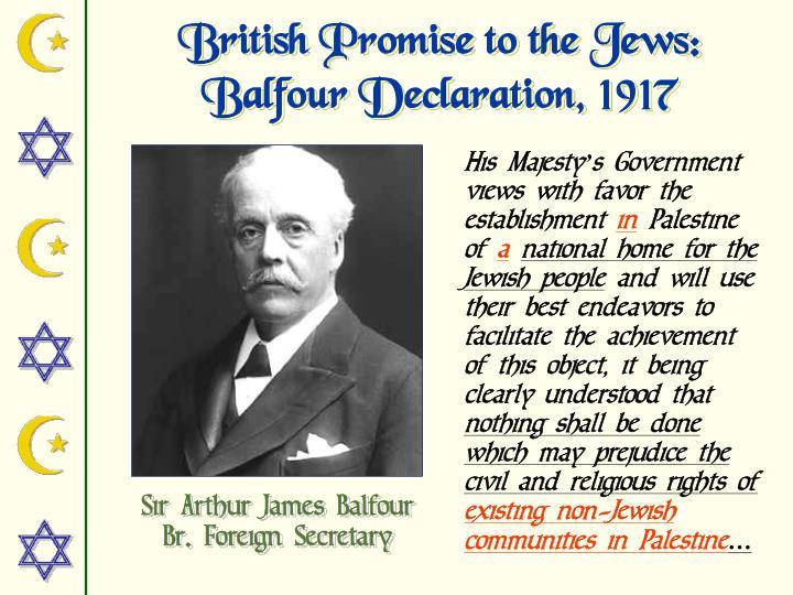 British Promise to the Jews: Balfour Declaration, 1917