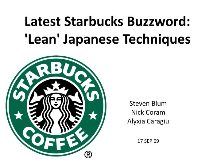 Latest Starbucks Buzzword: