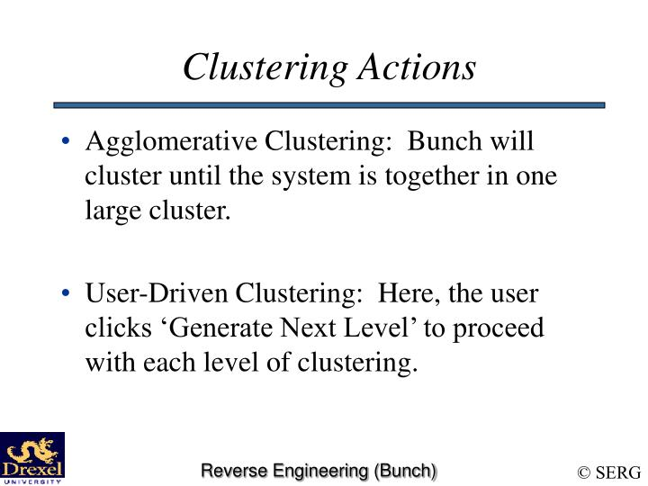 Clustering Actions
