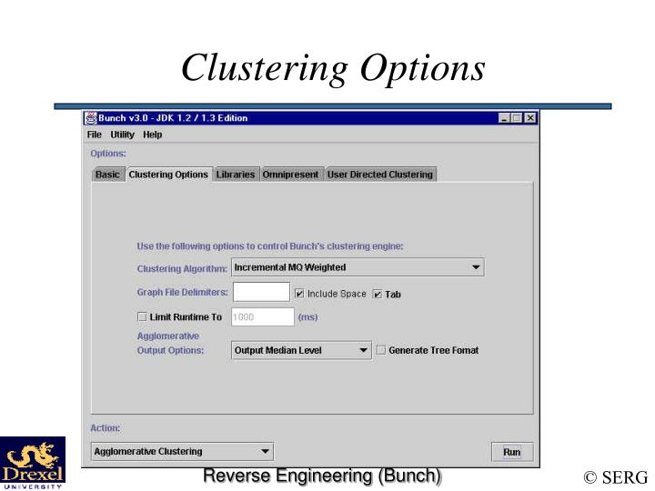 Clustering Options