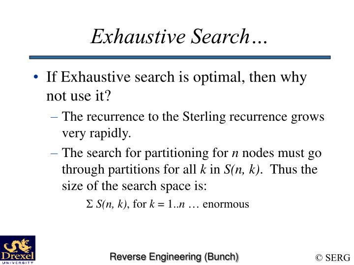 Exhaustive Search…