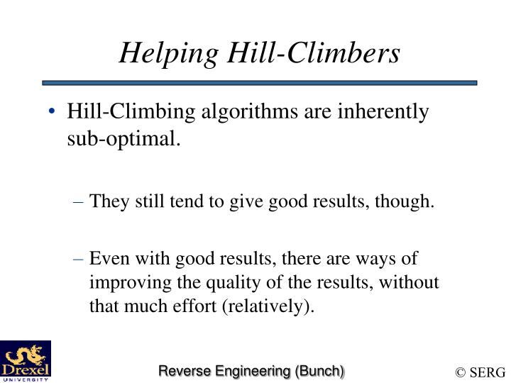 Helping Hill-Climbers