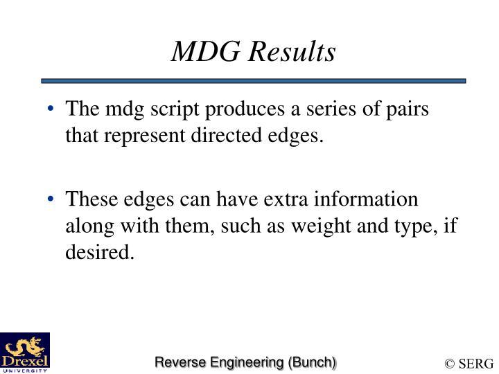 MDG Results