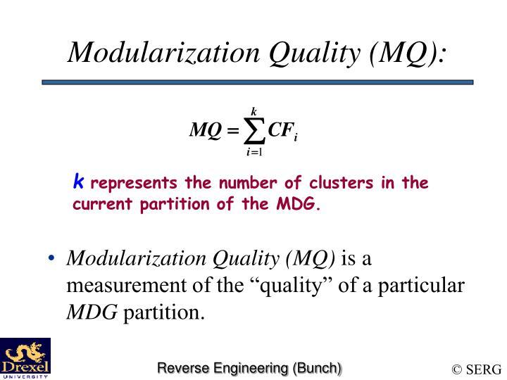 Modularization Quality (MQ):
