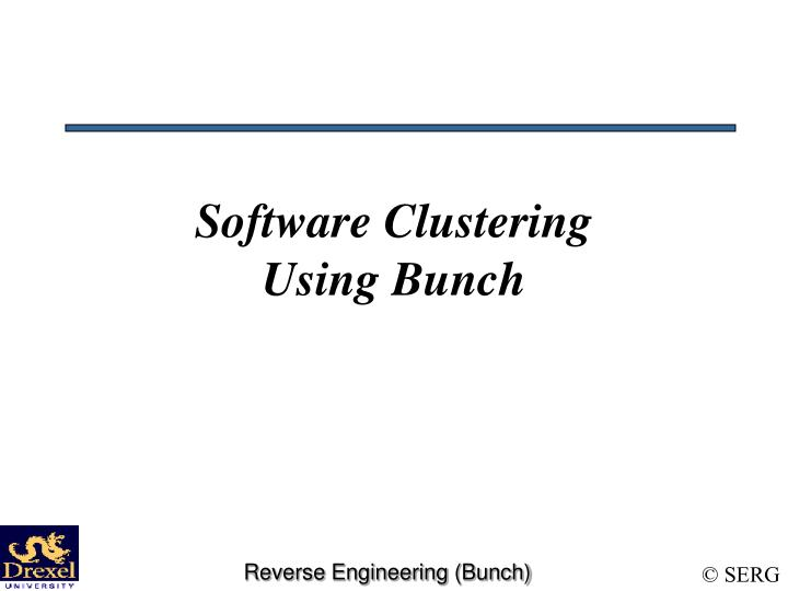 Software Clustering