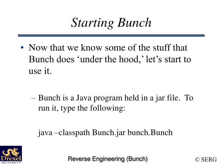 Starting Bunch