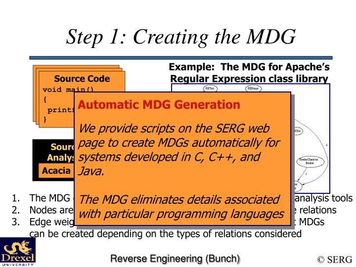 Step 1: Creating the MDG