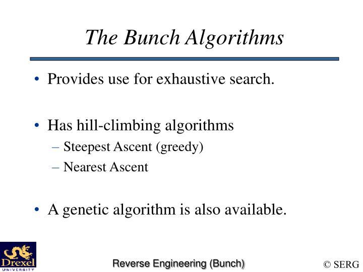 The Bunch Algorithms