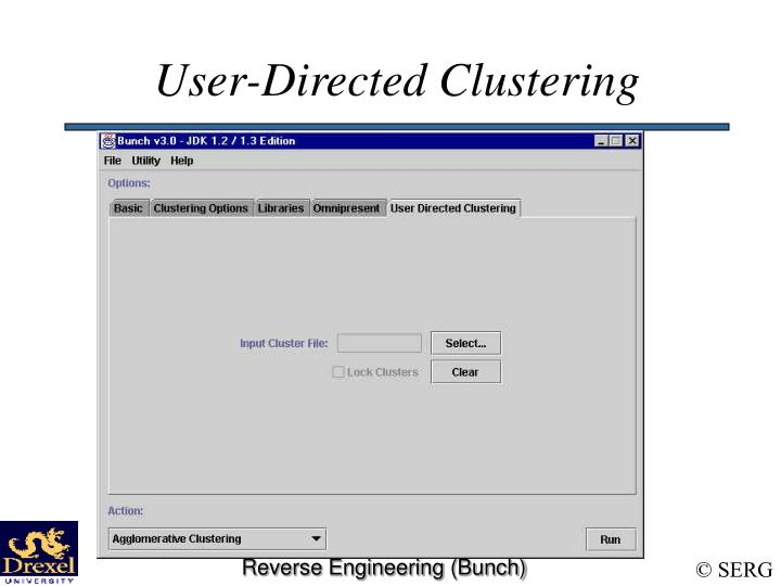 User-Directed Clustering