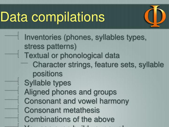 Data compilations