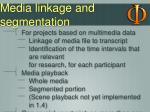 media linkage and segmentation1
