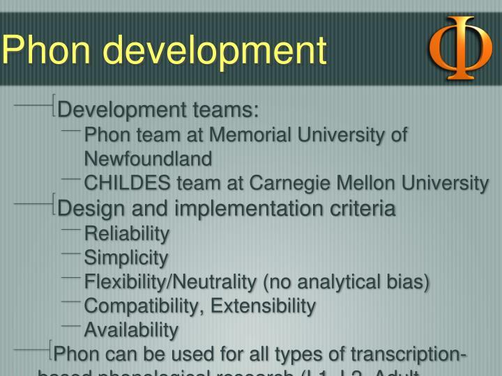 Phon development