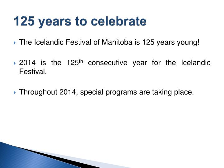 125 years to celebrate