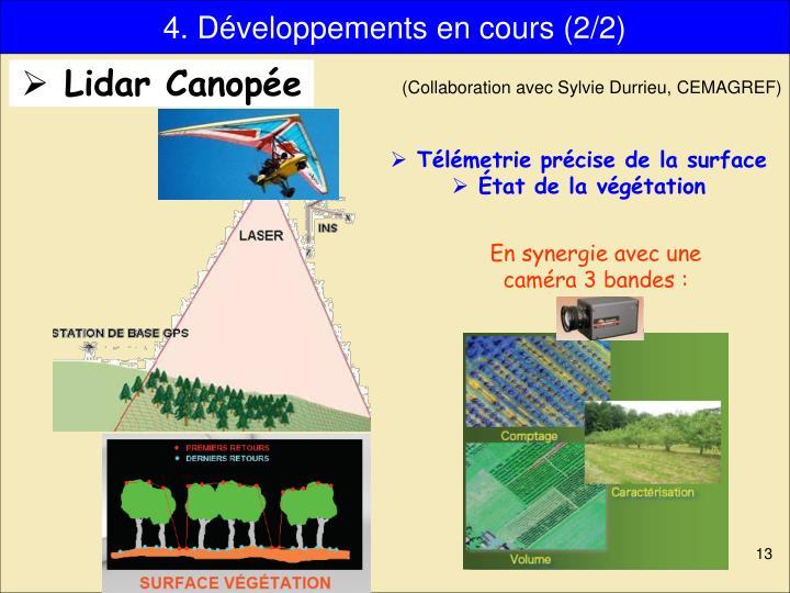4. Développements en cours (2/2)