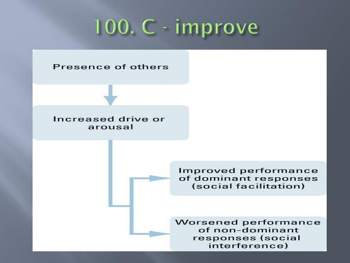 100. C - improve