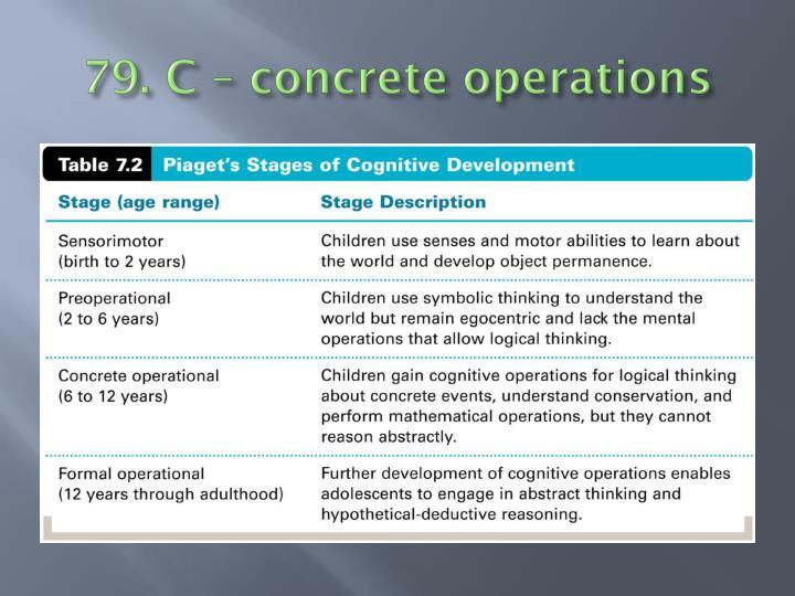 79. C – concrete operations