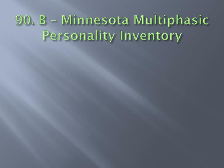 90. B – Minnesota