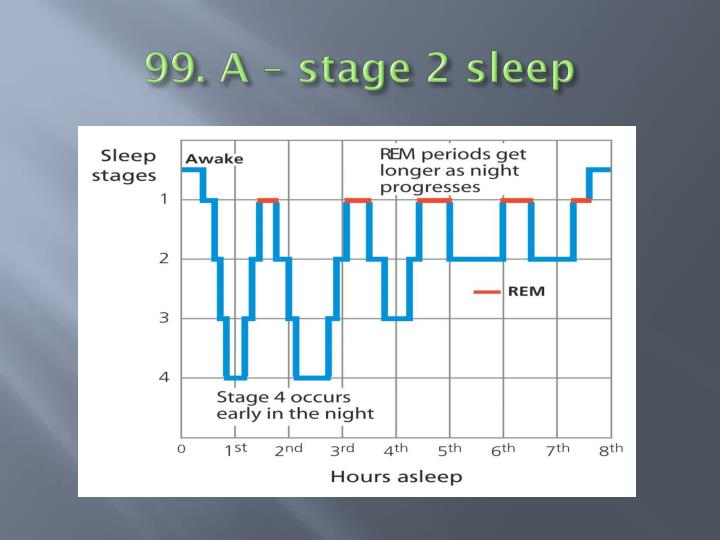 99. A – stage 2 sleep