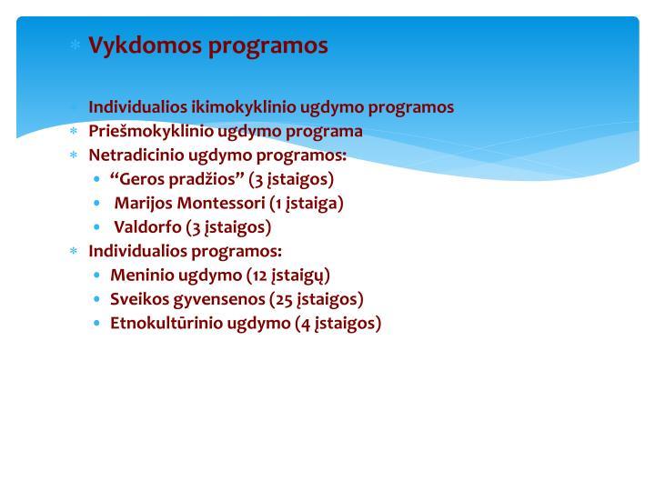 Vykdomos programos