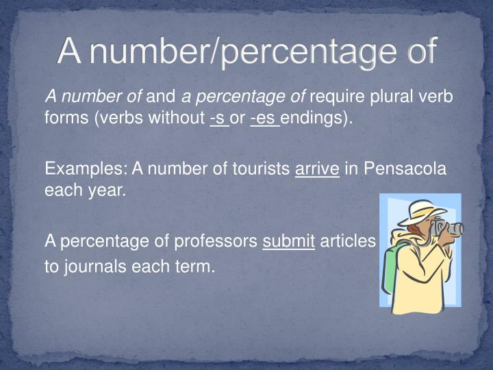 A number/percentage of