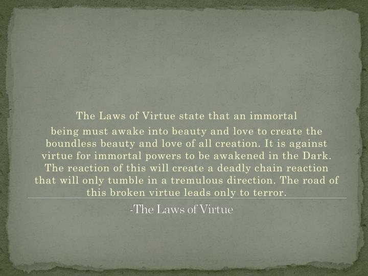 -The Laws of Virtue