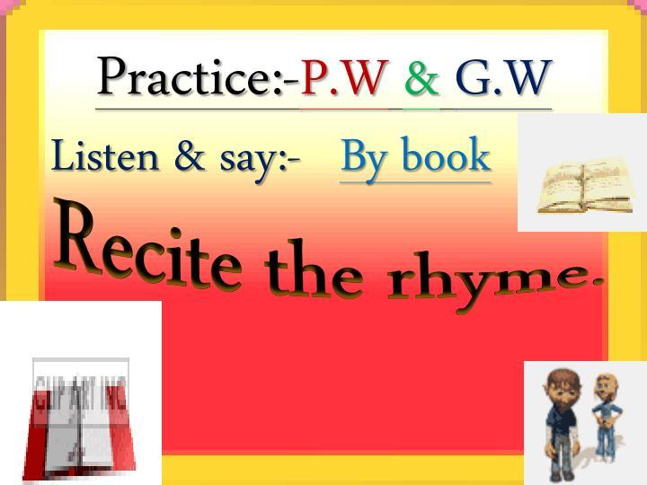 Practice:-