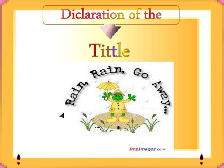 Diclaration