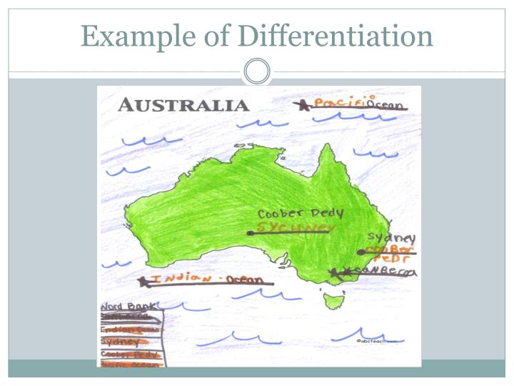 Example of Differentiation