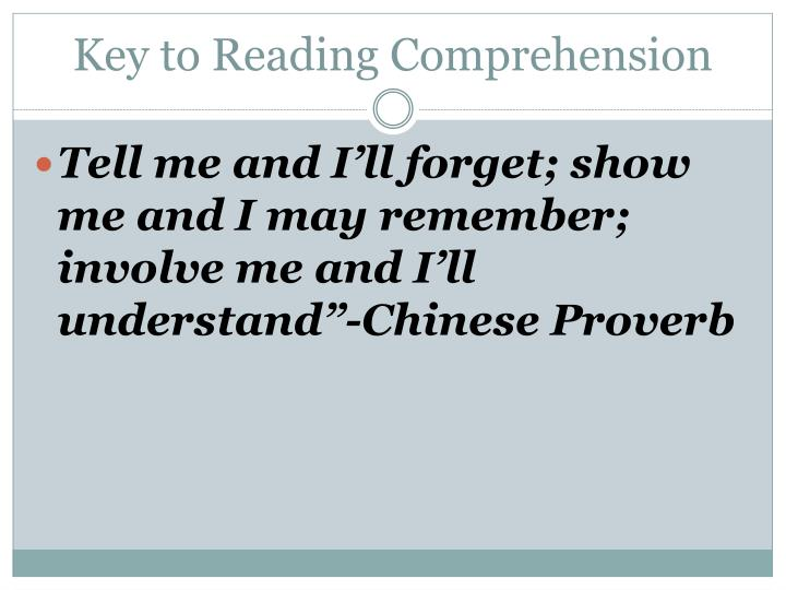 Key to Reading Comprehension