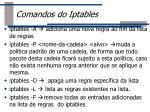 comandos do iptables