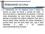roteamento no linux