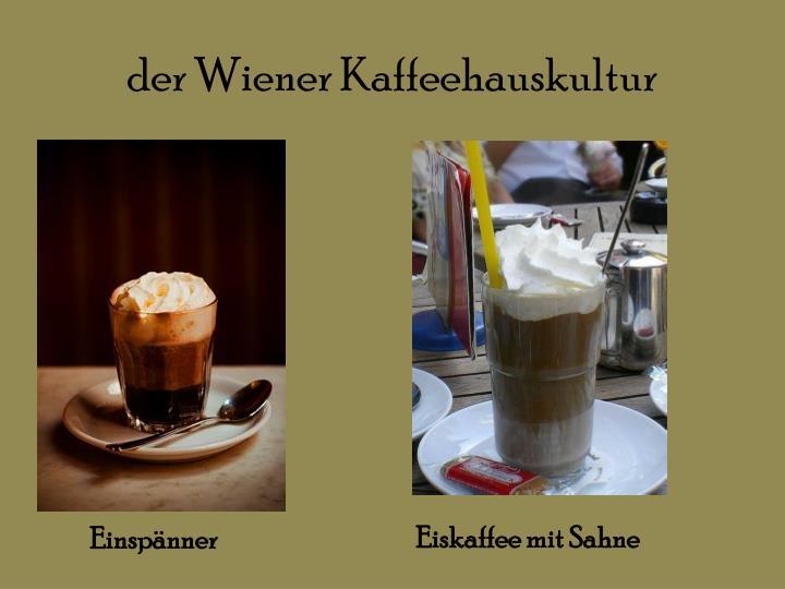 der Wiener Kaffeehauskultur