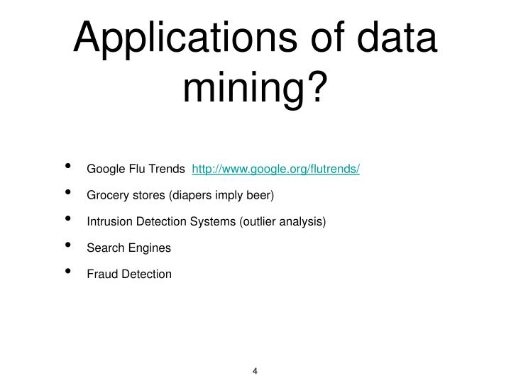 Applications of data mining?