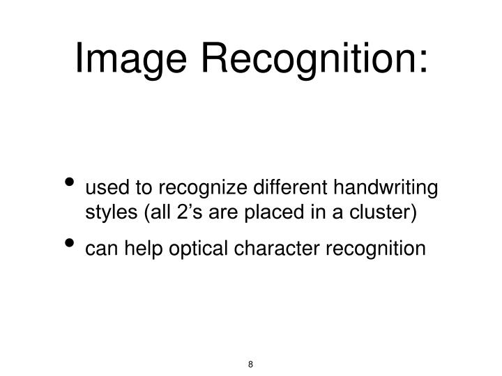 Image Recognition:
