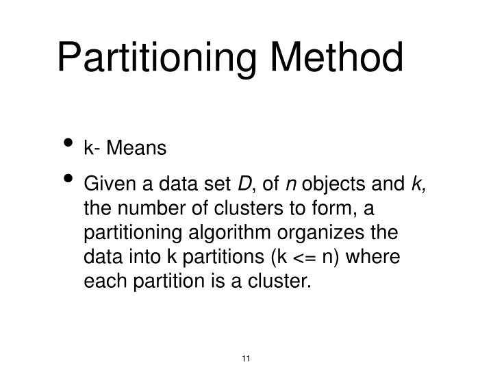 Partitioning Method