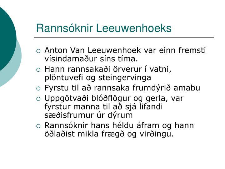 Rannsóknir Leeuwenhoeks