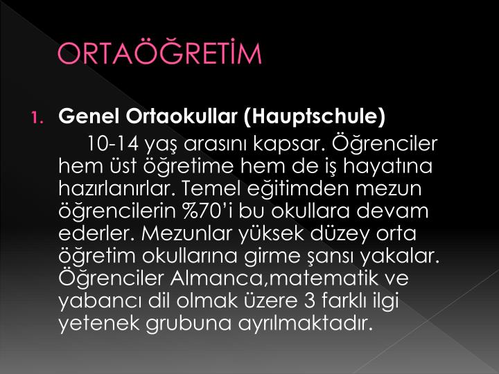 ORTAÖĞRETİM