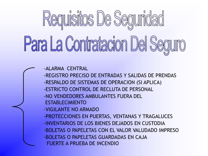 Requisitos De Seguridad