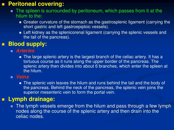 Peritoneal covering: