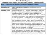 clinical decision support comparison of onc and hl7 and cchit criteria and hitpc c awg testimony1